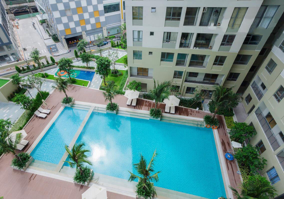 swimming pool Masteri apartment 1005