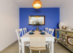 1019 blue dinning table