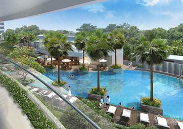 Swimming pool city garden