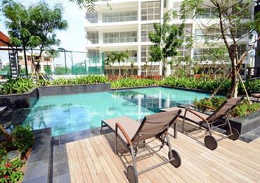 pool view estella apartment