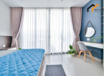 1124 serviced apartment blue tone