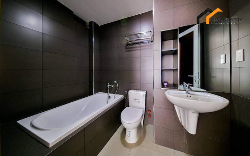 1125 bathtub bathroom serviced apartment