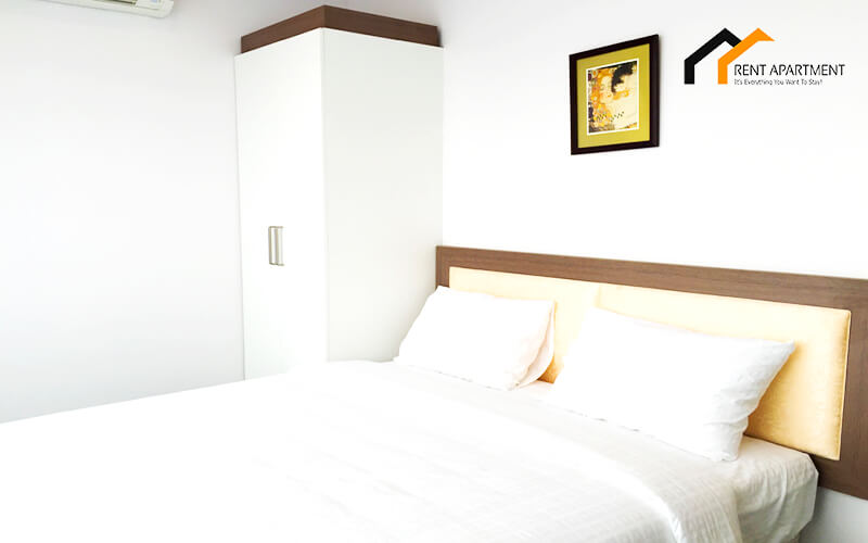 1126 white bedroom serviced apartment 1
