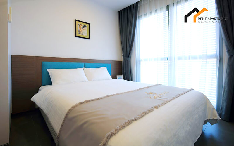 1126 white bedroom serviced apartment 2