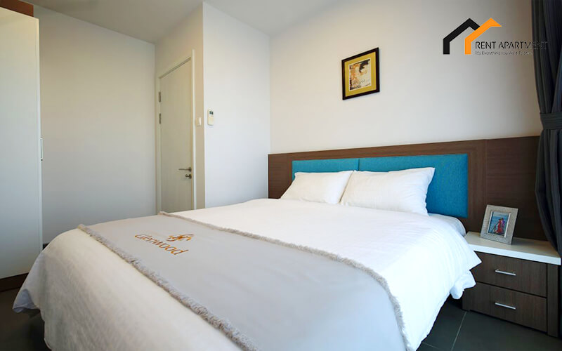 1126 white bedroom serviced apartment