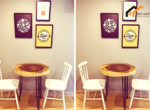 1136-dining table serviced apartment