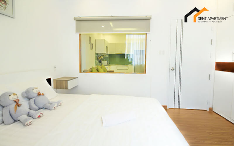 1141 serviced apartment bedroom area