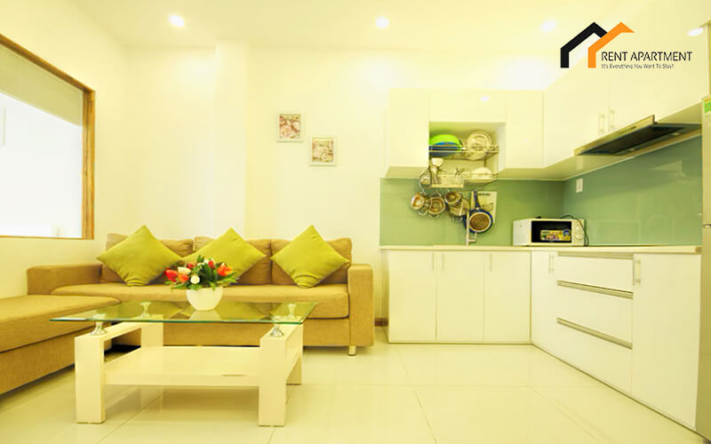1141 serviced apartment living room space