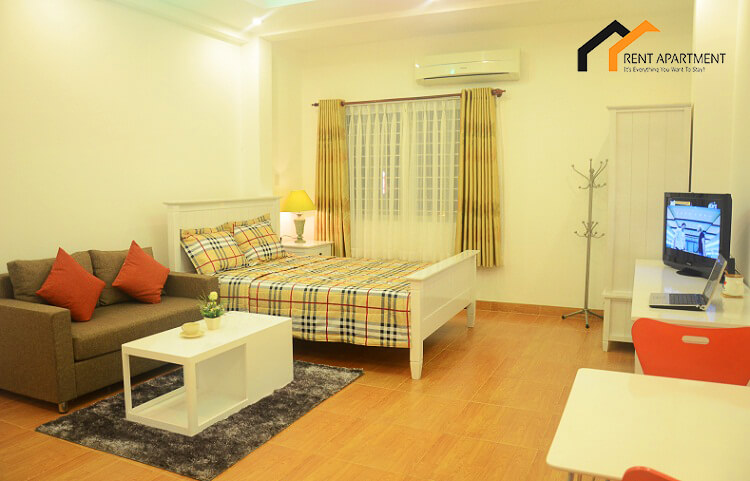1149 studio serviced living and bedroom
