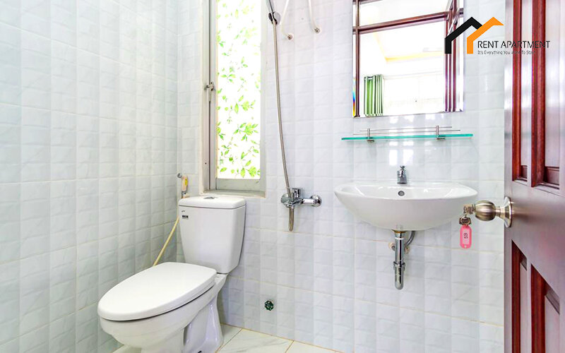 bathroom toilet serviced apartment