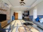 spacious living room rental apartment
