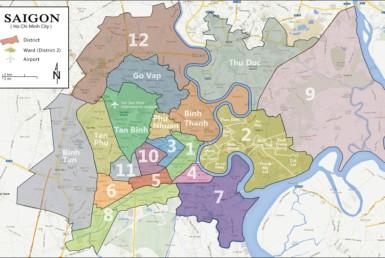 Ho Chi Minh city district map