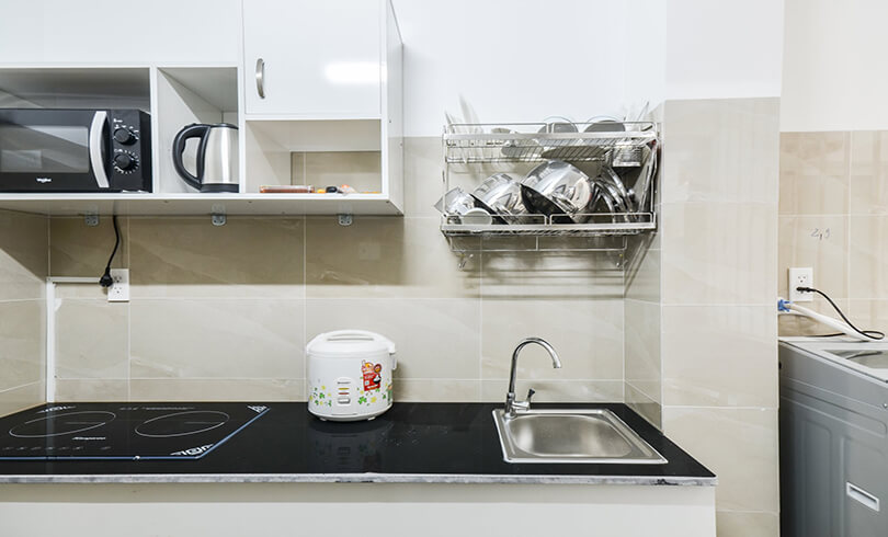 kitchen serviced apartment tan binh