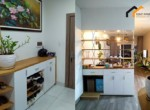 Real estate terrace kitchen flat project