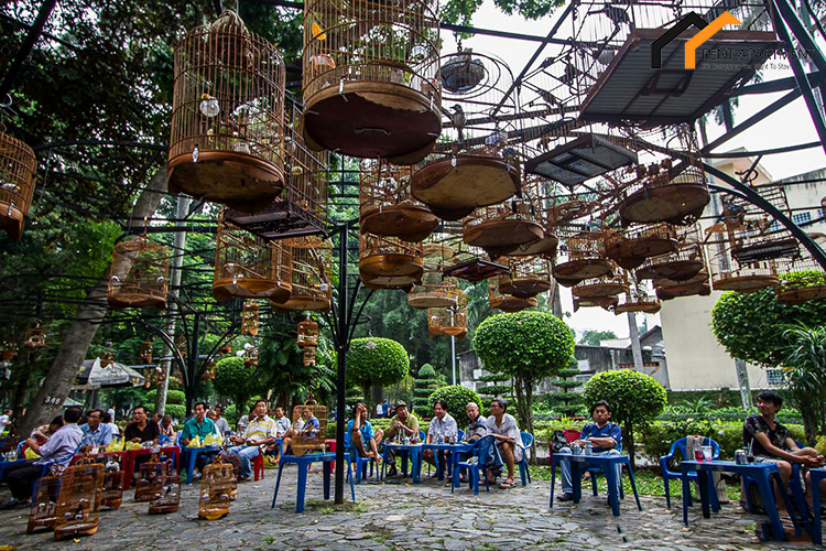 coffee in tao dan park