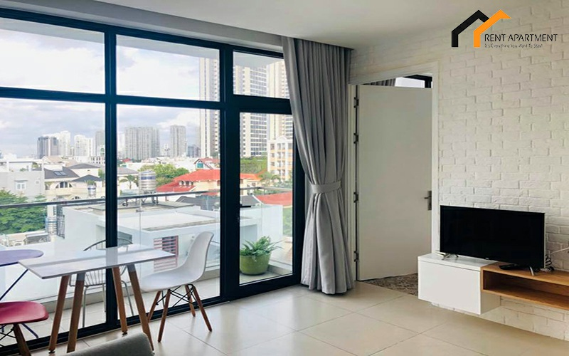 apartment livingroom binh thanh balcony lease