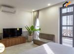 Real estate bedroom furnished condominium sink
