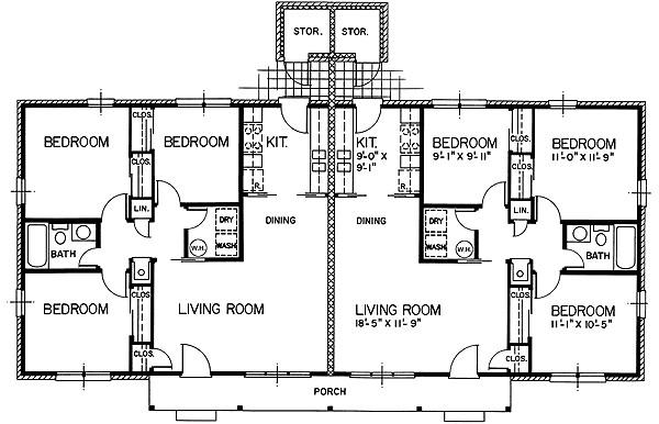 Mặt bằng Semi-detached House