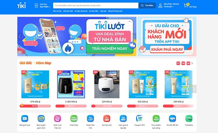 Tiki shopping online